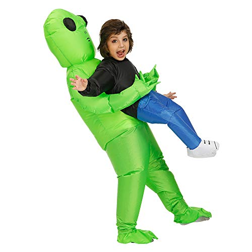 (Kooy Inflatable Alien Costume- Fancy Dress Halloween Blow Up Costume-Inflatable Party Costumes Adult/Kids (Kid-ET)