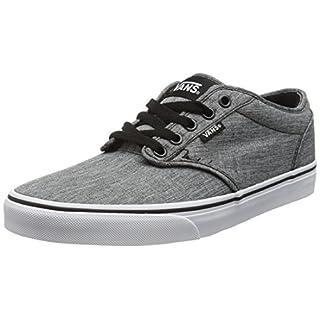 Vans Men's Atwood Low-Top Sneakers, Grau (Rock Textile Black/White), 9 M