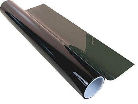 "36"" X 100' Ft Roll 5% Window Tint 2 Ply Professional Dark Charcoal Tint Film Bulk Self Adhesive"