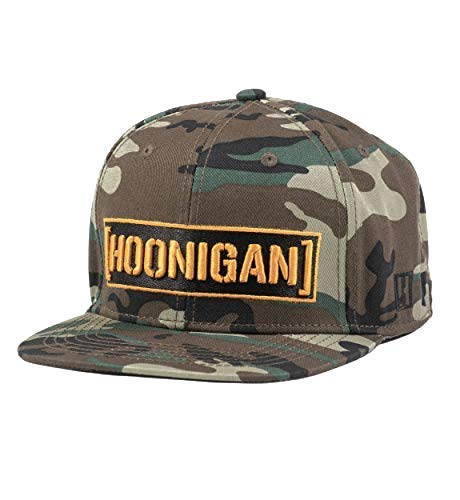 a19a93594 Hoonigan Censor Bar Snapback Hat | 100% Acrylic Adjustable Baseball Cap |  Hide Your Bed Head in Style and Show Everyone That Your Forehead Knows How  ...