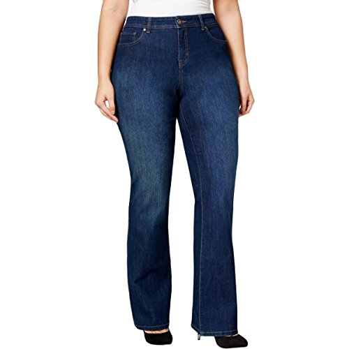 Style & Co. Womens Plus Embellished Curvy Fit Boot Cut Jeans Navy 24W by Style & Co.