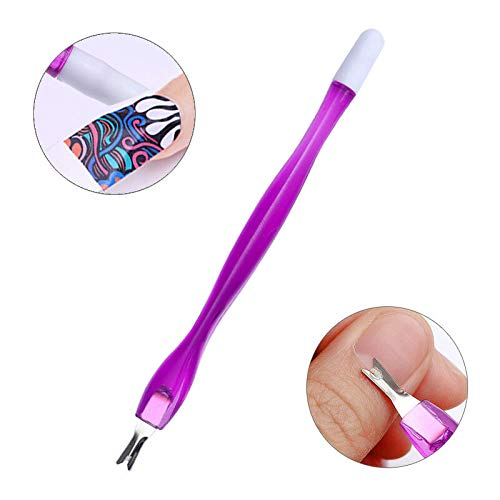 Dual-ended Nail Cuticle Remover Pusher Stainless Steel Spoon Stick Gel Nail Tool (Pattern - #24)
