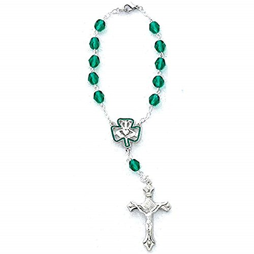 Catholic 7mm Irish Auto Rosary Carded, 7mm Irish Auto Rosary/carded by MV001