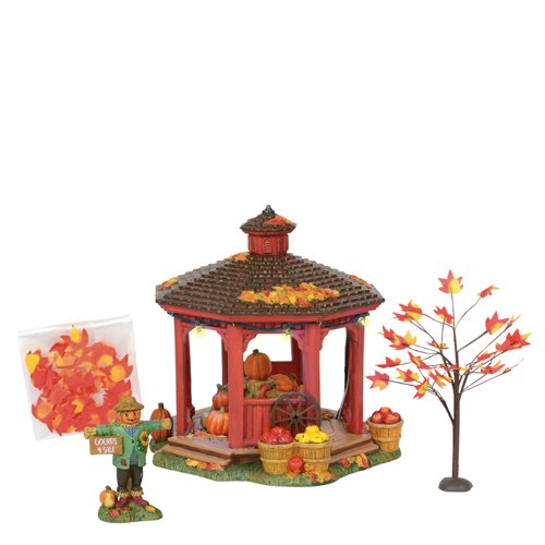 Department56 Department 56 Snow Village Halloween Harvest Gazebo Gift Set]()