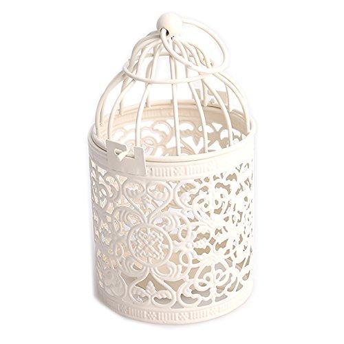 Fashion Hanging Bird Cage Candle Holder Candlestick Lantern Wedding Party Light