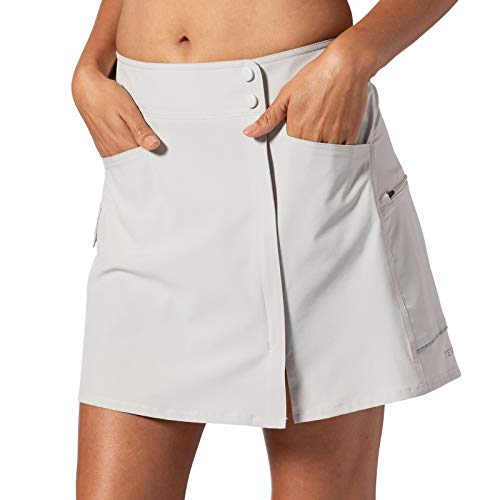 Terry Metro Skort Lite Women's Cycling Athletic Sport Skirt with Padded Chamois Liner Shorts - Sand - Medium