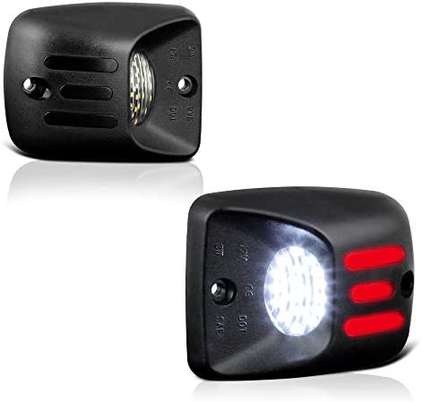 VIPMOTOZ レッド OLED ネオンチューブ ピュアホワイト SMD LED ナンバープレート ライトタグランプ アセンブリ 交換品 1995~2004年式 トヨタ タコマ ピックアップトラック用
