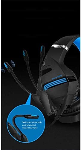 HNSYDS ブラックゲーミングヘッドセットヘッドセット調節を着用快適な通気性は聴覚障害削減します ゲーミングヘッドセット