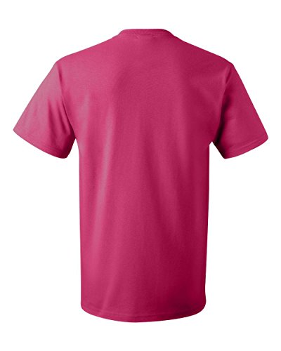 Fruit of the Loom Men's Short Sleeve Crew Tee, Large  - Cyber Pink