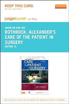 Alexander's Care of the Patient in Surgery - Elsevier eBook on Intel Education Study (Retail Access Card), 15e