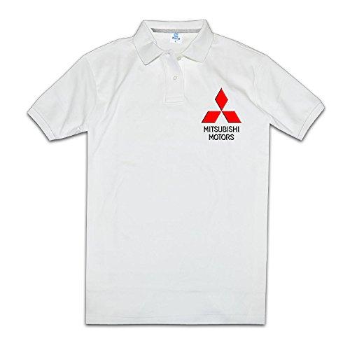 Price comparison product image Yisw Men's Mitsubishi Motors Logo Polo Shirts XL White