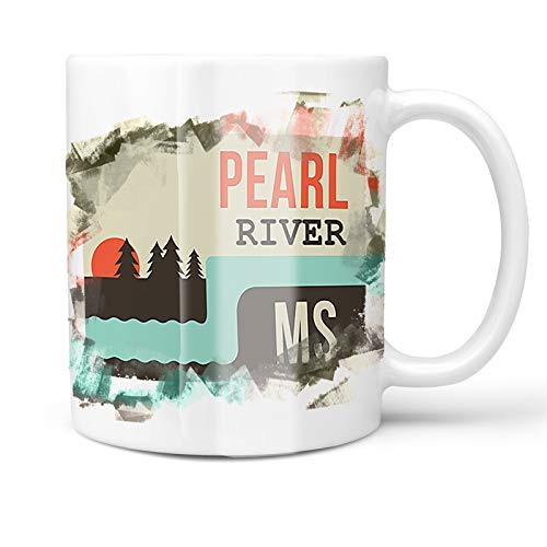 Neonblond 11oz Coffee Mug USA Rivers Pearl River - Mississippi with your Custom Name