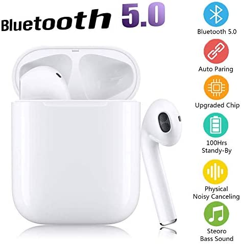 Bluetooth Headphones 5.0 Wireless Earbuds, 3D Stereo 24H Playtime Wireless Sports Headset, IPX5 Waterproof, Pop-ups Auto Pairing for Apple Airpods Android iPhone Samsung 2019 New