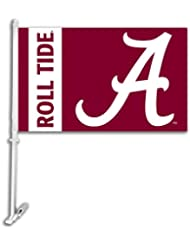 NCAA Alabama Crimson Tide Car Flag Script A Logo with Free Wa...