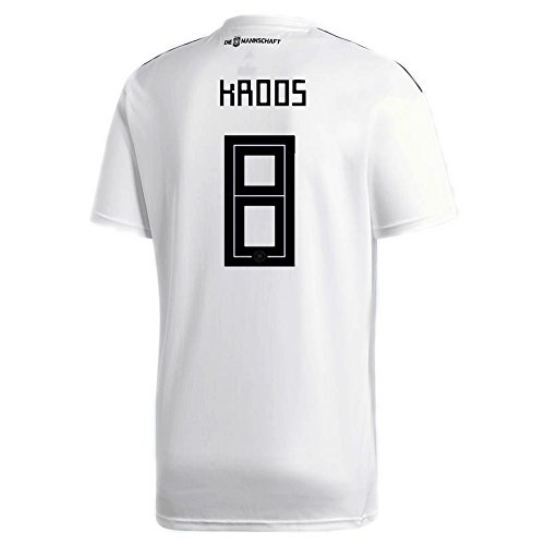 Germany Soccer Jersey Adidas (adidas KROOS #8 Germany Home Soccer Stadium Men's S/S Jersey World Cup Russia 2018 (L))