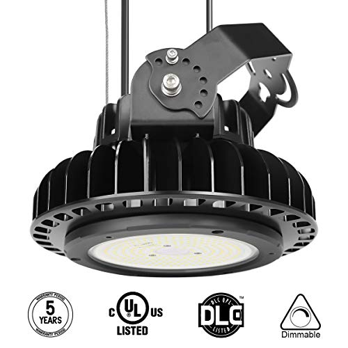 Adiding LED High Bay Warehouse Lighting, UFO High Bay Light Fixture 150W (600W HID/HPS equivalent) Lumileds LED Chips 19500 Lumens 5000K Dimmable MeanWell Driver for Garage Workshop DLC UL (600w Halogen Shop Light)