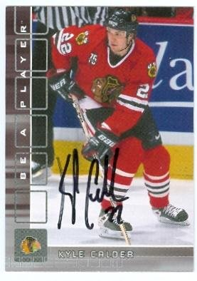 (Kyle Calder autographed Hockey Card (Chicago Blackhawks) 2001 In The Game #236 - Autographed Hockey)