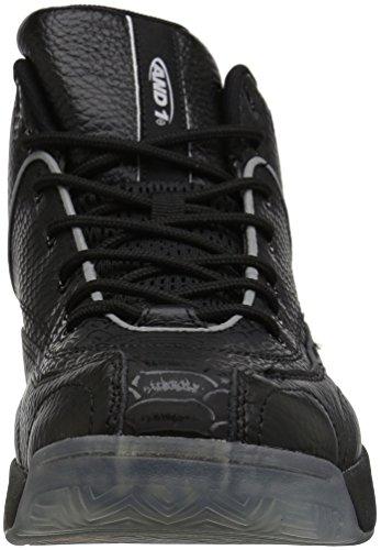 And1 1 Chaussure De Basket Classique Coney Island Homme Noir / Noir / Blanc