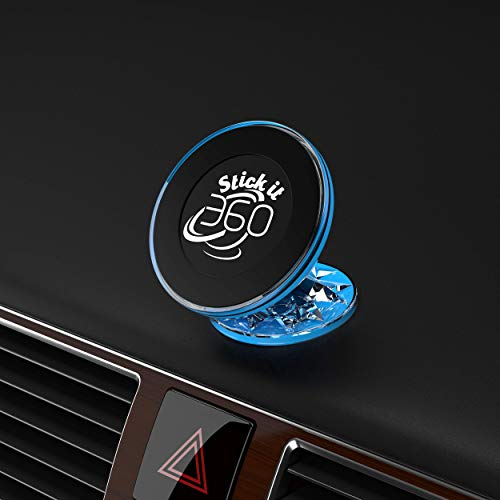 2019 Ford Edge Colors - Car Phone Mount Holder - GPS Holder Magnetic Car Mount - Magnetic Mount 360 Degree Rotation from Dashboard - Universal Car Mount Holder Compatible with All Smartphone Devices by Stick it 360 (Blue)