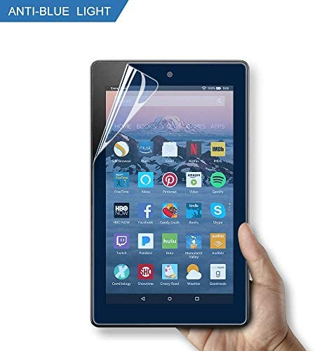 """Anti Blue Light Screen Protector for Fire HD 10 Tablet 10.1"""" (seventh / ninth Generation, 2017/2019 Release) and Fire HD 10 Kids, High Definition/Scratch Resistant/Easy Installation/Bubble Free/Anti Glare"""