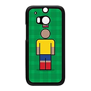 Ecuador Black Hard Plastic Case for HTC? One M8 by Blunt Football International + FREE Crystal Clear Screen Protector