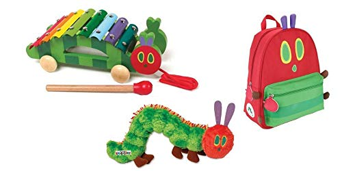 The World of Eric Carle The Very Hungry Caterpillar Pull Along Xylophone, Backpack & Soft Bean Bag Toy Bundle