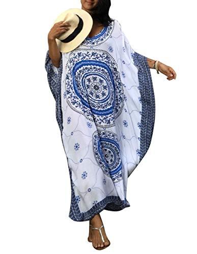 - Kaftan Dress Tunic Long Maxi Kimono Caftan Gown Nightdress Beach Party Casual Dress