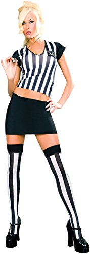 Sexy Referee Outfits (ToBeInStyle Women's 3 Pc Referee Outfit Includes Whistle - ML)