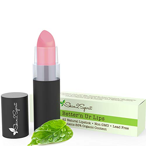 Better'n Ur Lips Vegan Lipstick (PURELY PINK) | 100% Natural | Organic | Gluten Free | Cruelty Free | Vegan | Lead Free | Paraben Free | Petroleum Free | Healthy Color that's Good for your Lips!