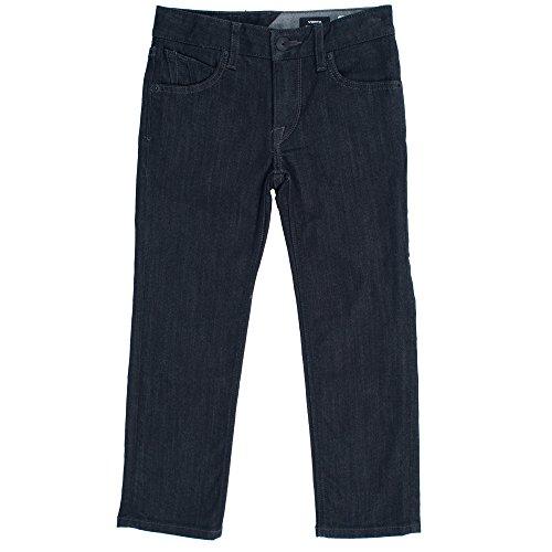 Volcom Little Boys' Vorta Jeans, Black Rinse, - Black Volcom Jean Zip