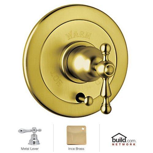 Rohl AC700L-IB Cisal Bath Collection Volume Control Pressure Balance Trim with Diverter Ornate Metal Lever, Inca
