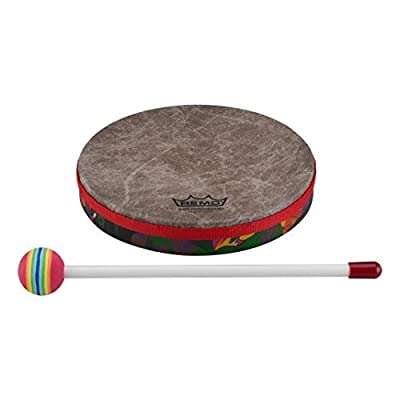 "REMO Drum, KIDS PERCUSSION, Hand Drum, 8"" Diameter, 1.25"" Depth, Fabric Rain Forest: Musical Instruments"