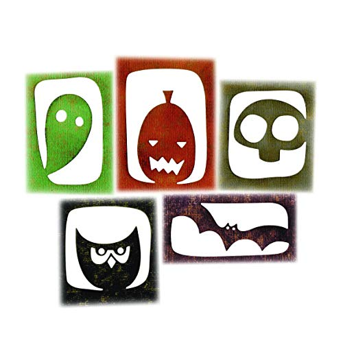 Sizzix 663088 Thinlits Dies Halloween Hangouts by Tim Holtz, 5-Pack, One Size, Multicolor]()