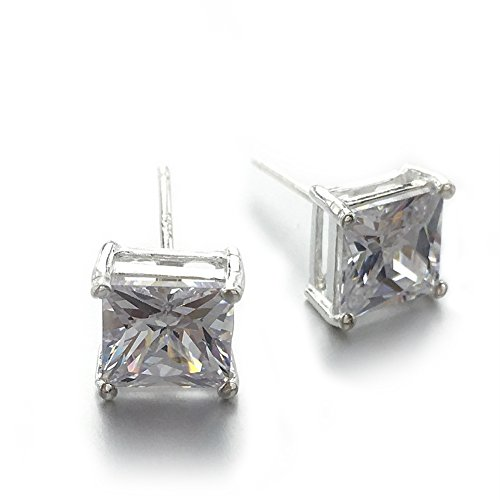 60 Off Chryssa Youree 18k White Gold Plated Cz Cubic Zirconia Square