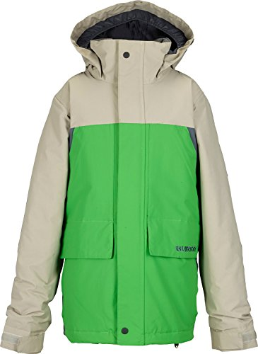 Burton TWC Headliner Insulated Jacket - Boys' Iron Gray/C-Prompt/Bog, - Collection White Shaun