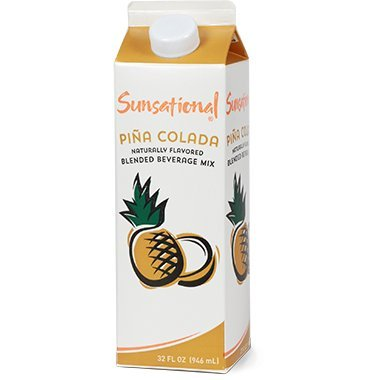 Sunsational Frozen Pina Colada Concentrate 32 oz, Pack of 12 by Sunsational