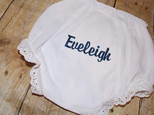 Personalized baby diaper cover bloomers embroider