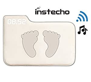 Alarm Clock for Heavy Sleepers,Instecho Rug Music Carpet Alarm Clock - Digital Display,Pressure Sensitive Alarm Clock with The Softest Touch for Modern Home, Kids, Teens, Girls and Guys(Creamy-White)
