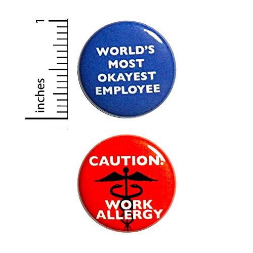 Funny Work Button Pin 2 Pack Pinback 1 Inch 2P2-2