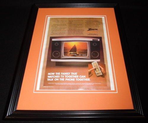 (1982 Zenith System 3 TV 11x14 Framed ORIGINAL Vintage Advertisement)
