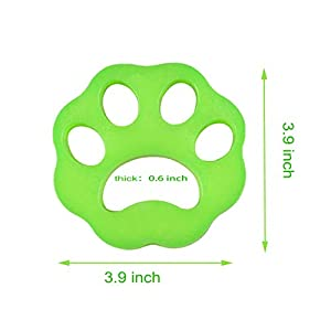 DKStarry Pet Hair Remover for Laundry, Dog and Cat Hair Catcher for Washing Machine, 4-Pack Reusable Sticky Pet Fur Hair Remover/Catcher/Removal for Laundry/Dryer/Clothes/Couch (4 Pack)