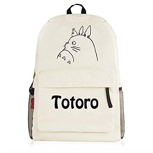Neighbor Anime Cosplay Shoulder Backpack Bookbag 1 Canvas My Totoro Rucksack School White Bag SqrxgnwrCI