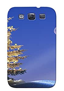Fwlxpl-2220-racvijd With Unique Design Galaxy S3 Durable Tpu Case Cover Trees Germany Christmas Bavaria