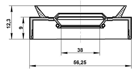 For Honda 40X56X9X12,3 91201-P6R-003 // 91201P6R003 Axle Case Oil Seal
