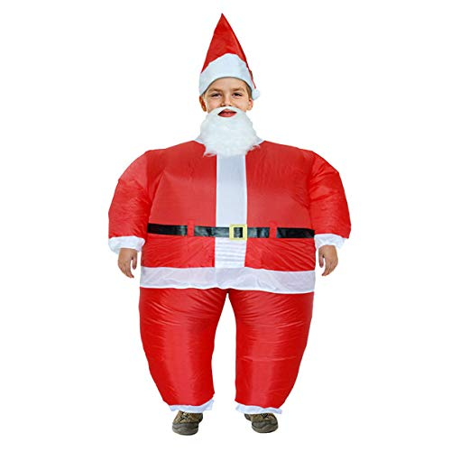 BIGPETS Inflatable Christmas Christmas Deer Costume Santa Claus Dress for Adults and Child Cosplay Party (Child Santa Claus) ()