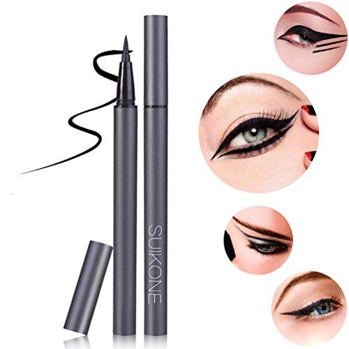 KINGMAS Waterproof Liquid Eyeliner, Black Big-Eyes Lasting Eye Liner, High-tech Ink Circulation System