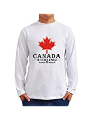 MAPLE CANADA Curling Long Sleeve T-Shirt