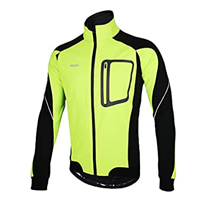 45497a94e Amazon.com   ARSUXEO Winter Thermal Fleece Cycling Jacket Windproof ...