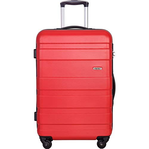Merax MT Imagine Luggage Set 3 Piece Spinner Suitcase 20 24 28inch (Red-20inch)