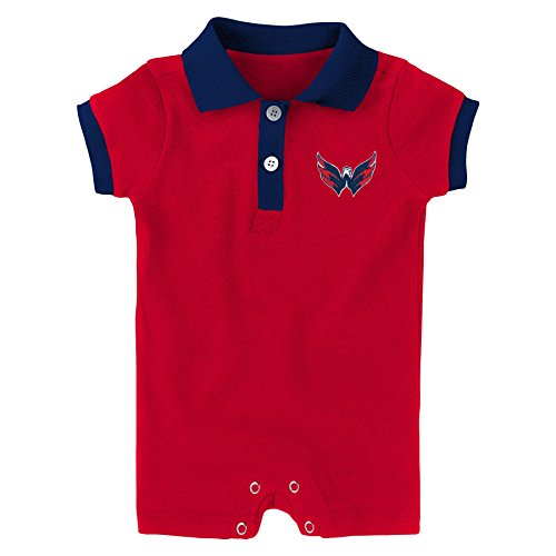 NHL Washington Capitals Newborn & Infant Prepster Polo Romper, Red, 12 Months